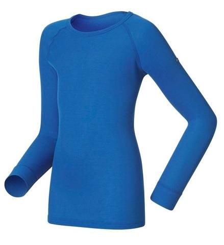 Odlo Warm детская термобелье рубашка ультрамарин