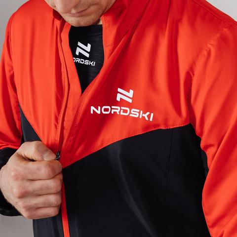 Nordski Sport куртка для бега мужская red-black