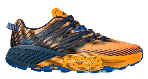 Hoka One One Speedgoat 4 кроссовки для бега мужские синие-оранжевые