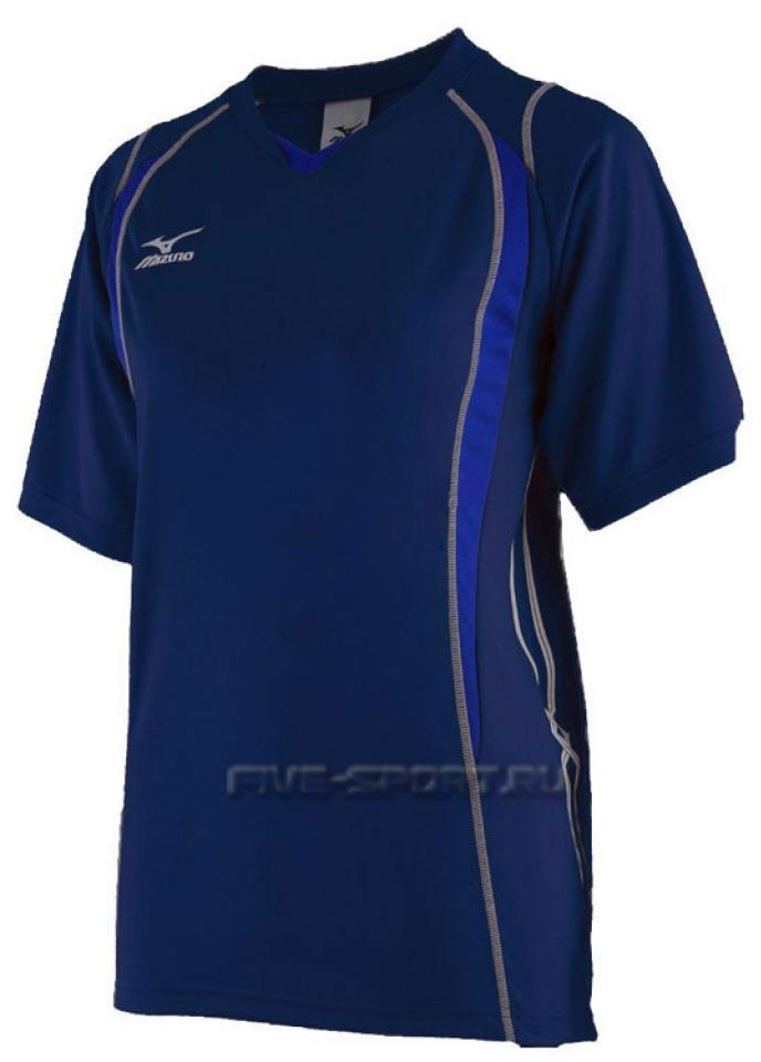 Mizuno Premium Top футболка волейбольная мужская d-blue