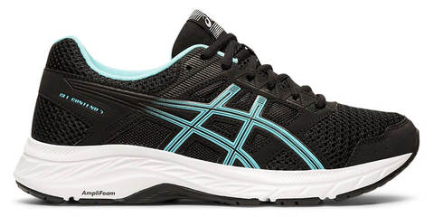 Asics Gel-Contend 5 кроссовки беговые женские черные-голубые