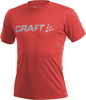 Футболка Craft Active Run Logo Tee мужская red - 1