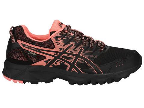 Кроссовки-внедорожники для бега женские Asics GEL-Sonoma 3 G-TX черные-коралловые