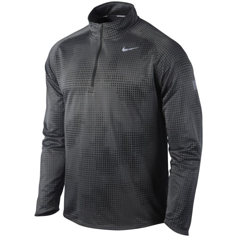 Футболка Nike Element Jacq 1/2 Zip /Рубашка беговая чёрная