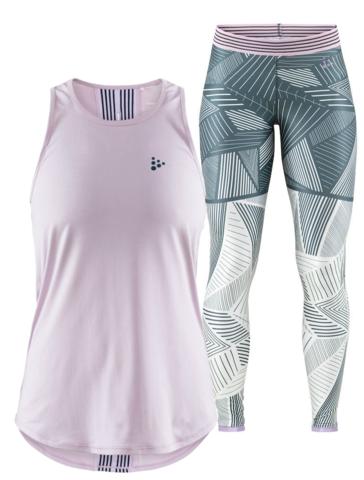 Craft Lux женский комплект для тренировок розовый