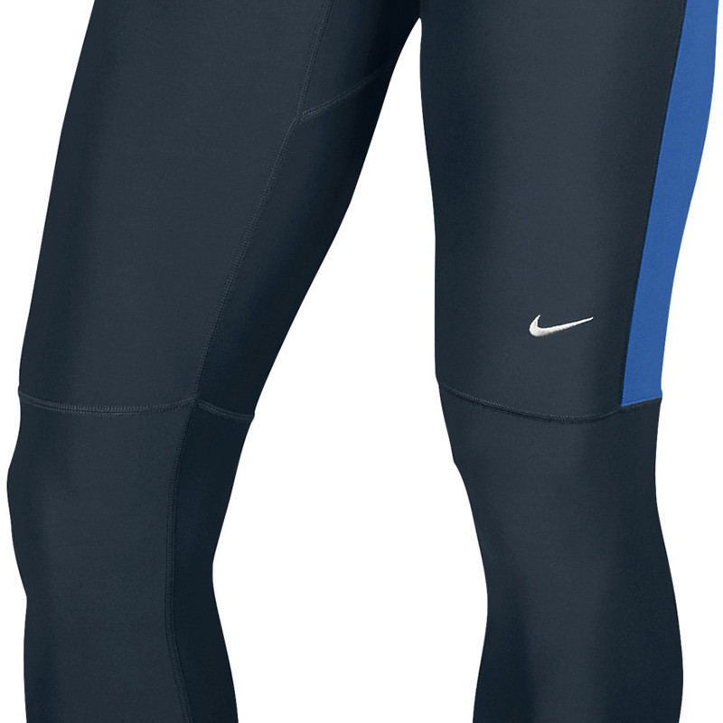 Тайтсы Nike Filament Tight чёрно-синие - 4