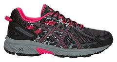 Asics Gel Venture 6 GS кроссовки внедорожники детские черные-розовые