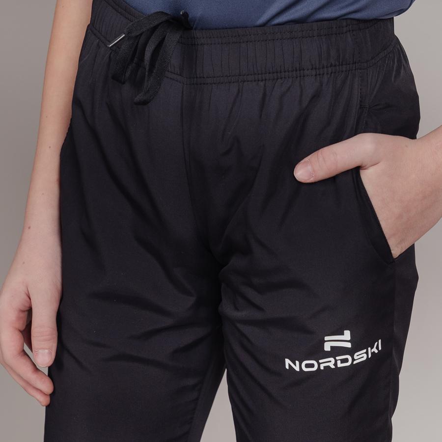 Nordski Jr Motion костюм беговой детский черный-лайм - 13