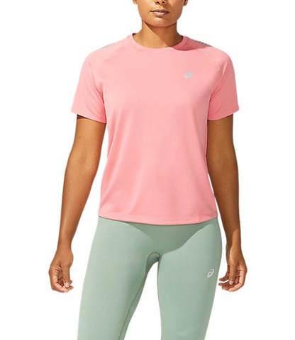 Asics Icon Ss Top футболка для бега женская розовая