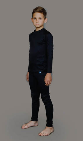 Nordski Kids-Junior Warm комплект термобелья детский black