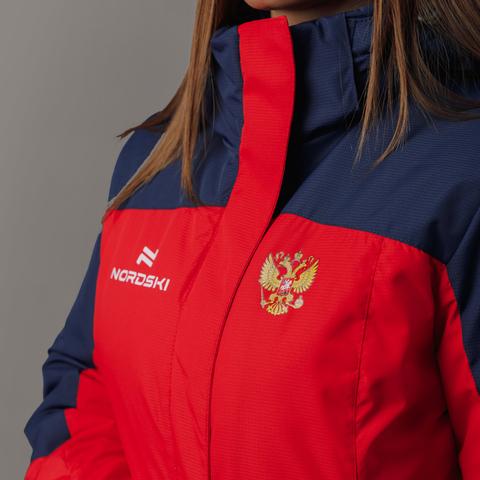 Nordski Mount теплый лыжный костюм женский blue-red