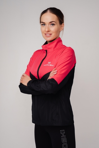 Nordski Sport куртка для бега женская pink-black