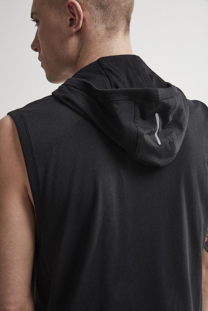 Craft Deft 2.0 толстовка с капюшоном мужская без рукавов black - 4