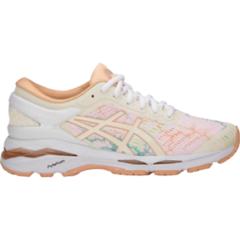 Кроссовки для бега женские Asics Gel Kayano 24 Lite Show белые-коралловые