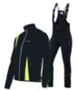 Nordski Active мужской разминочный костюм черный-желтый - 3