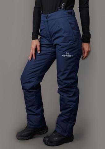 Nordski Mount лыжные утепленные брюки женские dark blue