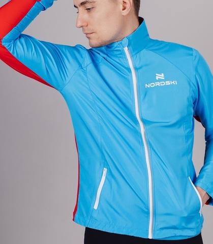 Nordski Premium беговой костюм мужской Black-Blue