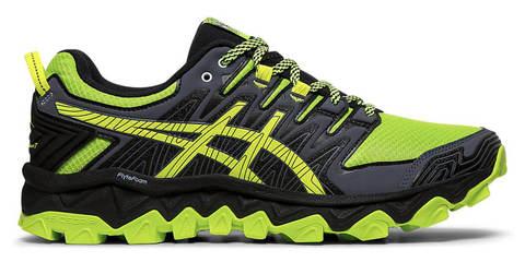 Asics Gel Fujitrabuco 7 кроссовки внедорожники мужские черные-зеленые