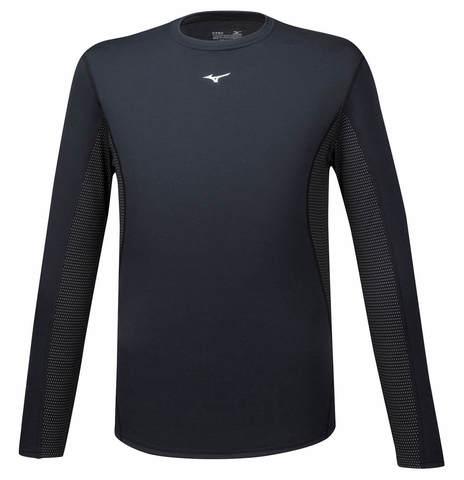 Mizuno Mid Weight Crew термобелье рубашка мужская черная