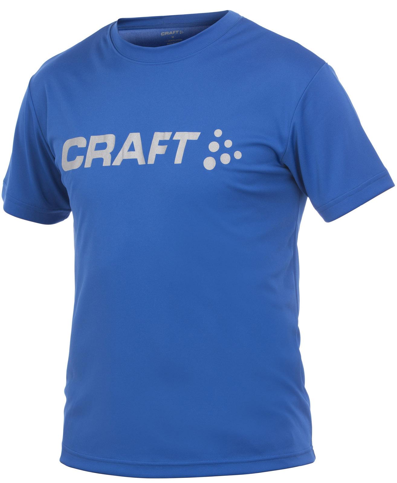 Футболка Craft Active Run Logo Tee мужская dark blue