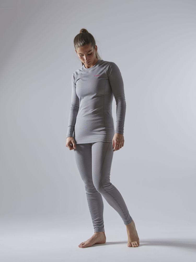 Craft Core Warm Baselayer комплект термобелья женский grey - 2