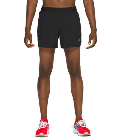 """Asics Road 5"""" Short шорты для бега мужские черные"""