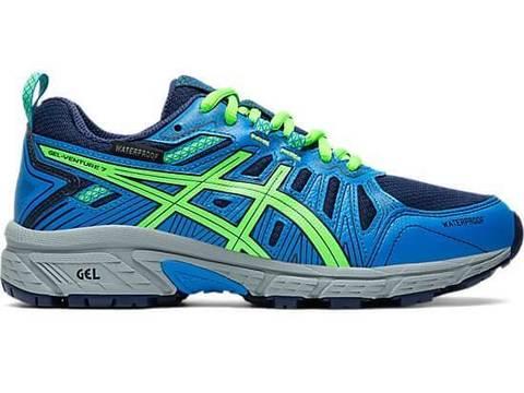 Asics Gel-Venture 7 Gs Wp кроссовки беговые детские синие-зеленые