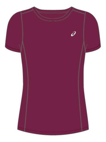 Asics Katakana Ss Top футболка для бега женская фиолетовая