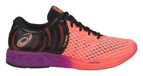 Asics Noosa Ff 2 мужские беговые кроссовки черные-коралловые