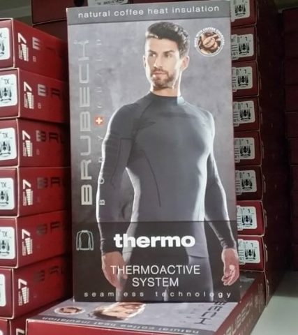 BRUBECK THERMO NILIT HEAT термобелье рейтузы мужские графит