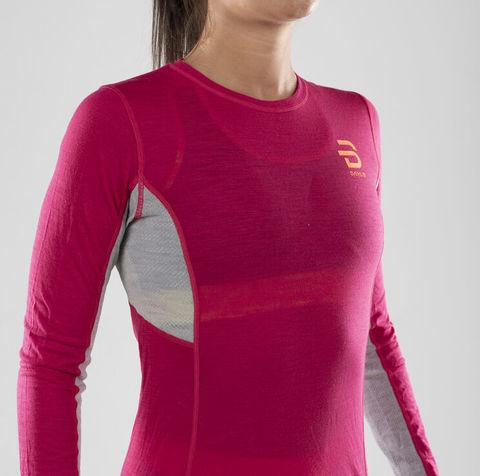 Bjorn Daehlie Trainingwool термобелье рубашка женское розовое