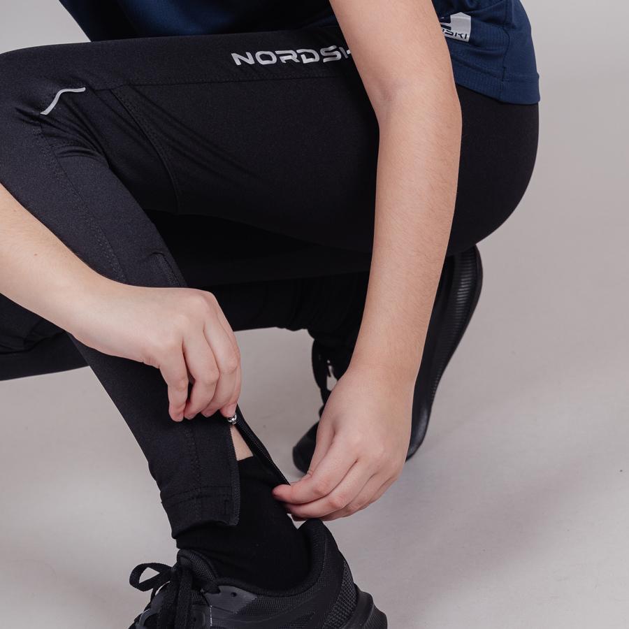Nordski Jr Premium тайтсы для бега детские Black - 7