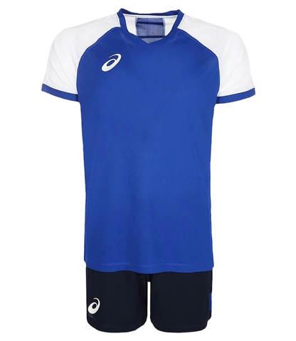 Asics Man Volleyball V-Neck Set мужская волейбольная форма синяя