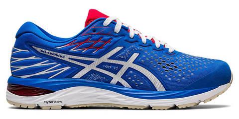 Asics Gel Cumulus 21  кроссовки для бега мужские синие-белые (Распродажа)
