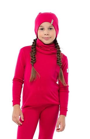 Janus Princess Wool термобелье детское из шерсти мериносов рубашка малиновая