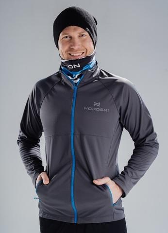 Nordski Elite 2020 разминочная куртка мужская grey