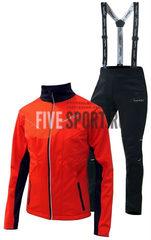 Nordski Premium мужской лыжный костюм красный