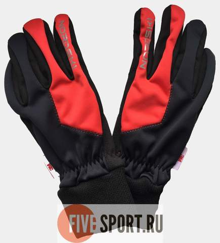Nordski Jr Motion WS перчатки детские black-red