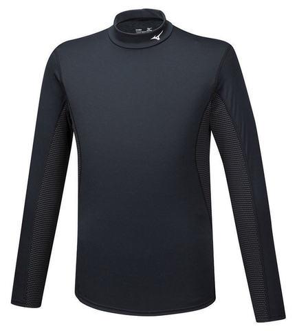 Mizuno Mid Weight High Neck термобелье рубашка мужская черная