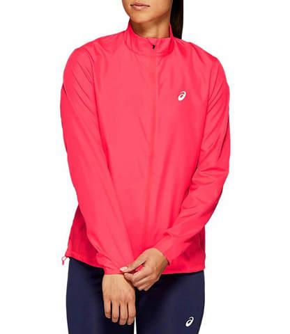 Asics Silver Jacket куртка для бега женская розовая
