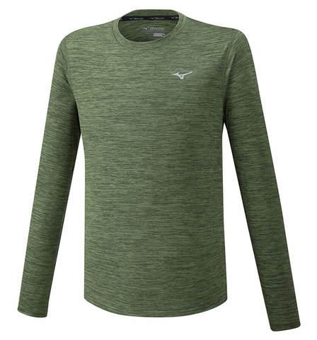 Mizuno Impulse Core Ls Tee футболка с длинным рукавом мужская зеленая