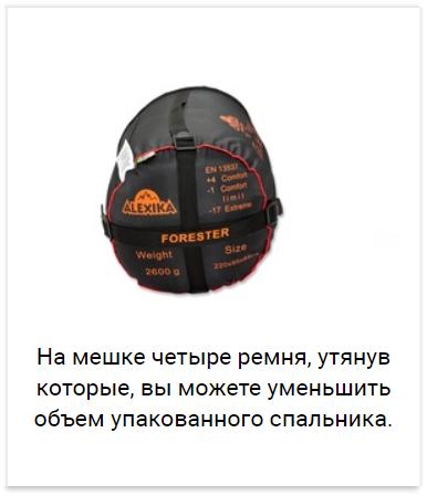 Alexika Forester спальный мешок туристический - 15