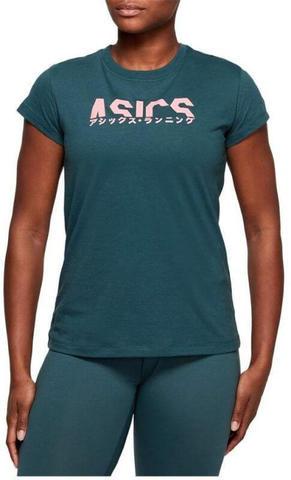 Asics Katakana Graphic Tee футболка для бега женская синяя