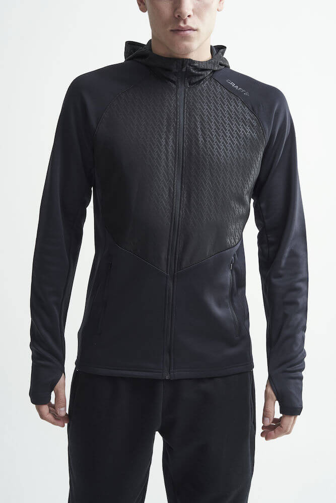 Craft Charge беговая куртка мужская черная - 2