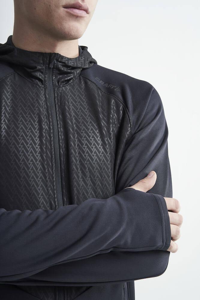 Craft Charge беговая куртка мужская черная - 4