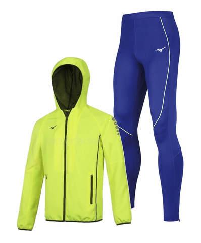 Mizuno Micro Premium Jpn костюм для бега мужской желтый-синий