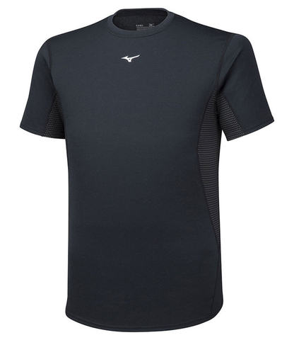 Mizuno Mid Weight Tee термобелье футболка мужская черная