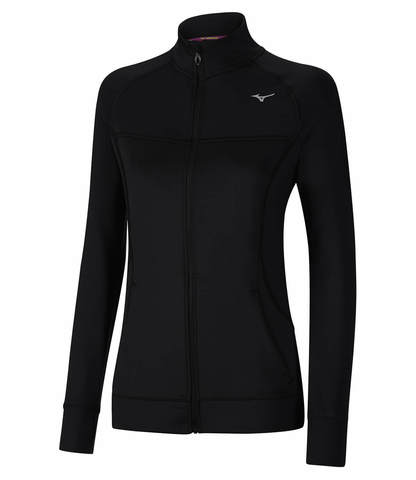 Mizuno Alpha Knit рубашка беговая женская черная