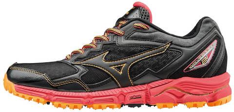 Кроссовки для бега женские Mizuno Wave Daichi 2 черные-розовые
