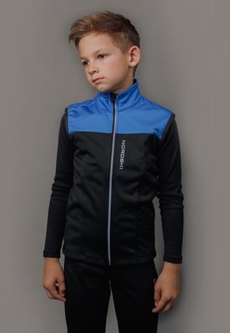 Nordski Jr Active лыжный жилет детский blue-black
